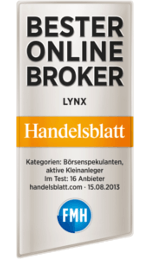 LYNX: Bester Online Broker 2013 - Handelsblatt.com