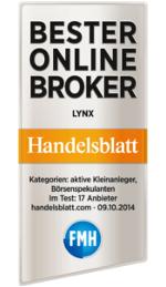 LYNX: Bester Online Broker 2014 - Handelsblatt.com