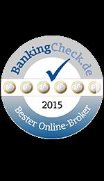 Bester Online-Broker 2015 - laut BankingCheck.de