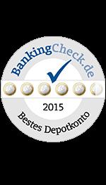 Bestes Depotkonto 2015 - laut BankingCheck.de