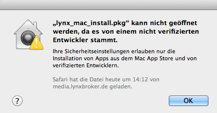 Mac OS X | Download und Installation der Trader Workstation