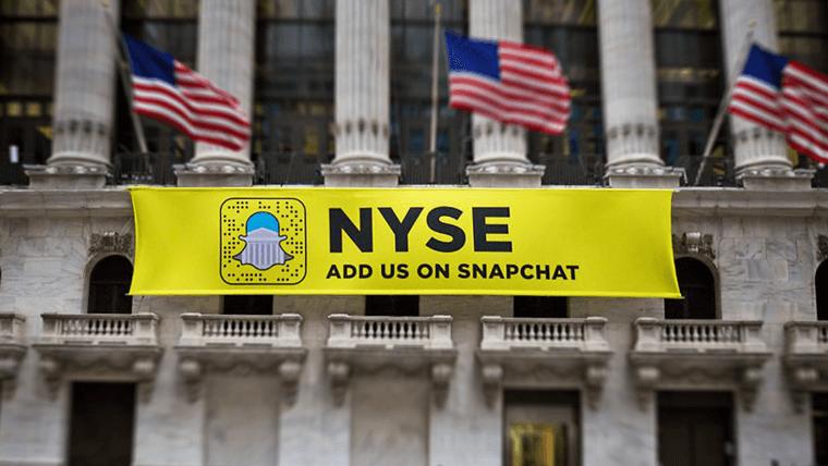 Snapchat-Plakat-NYSE
