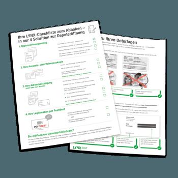 LYNX Checkliste Depoteröffnung Deutschland