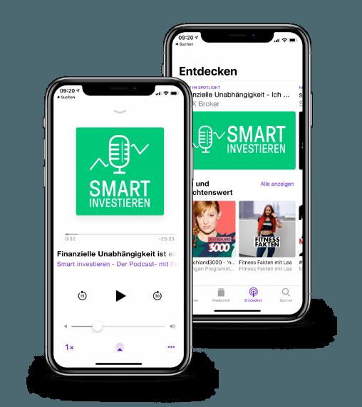 Finanz-Podcast Smart Investieren -Smartphones | LYNX Online-Broker